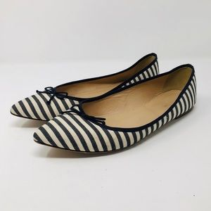 J.CREW STRIPED GEMMA FLATS SZ8.5